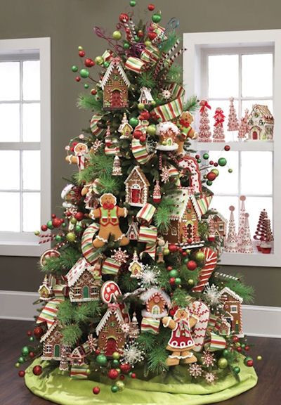 Candy Themed Christmas Tree  Candy Themed Christmas Tree Ideas
