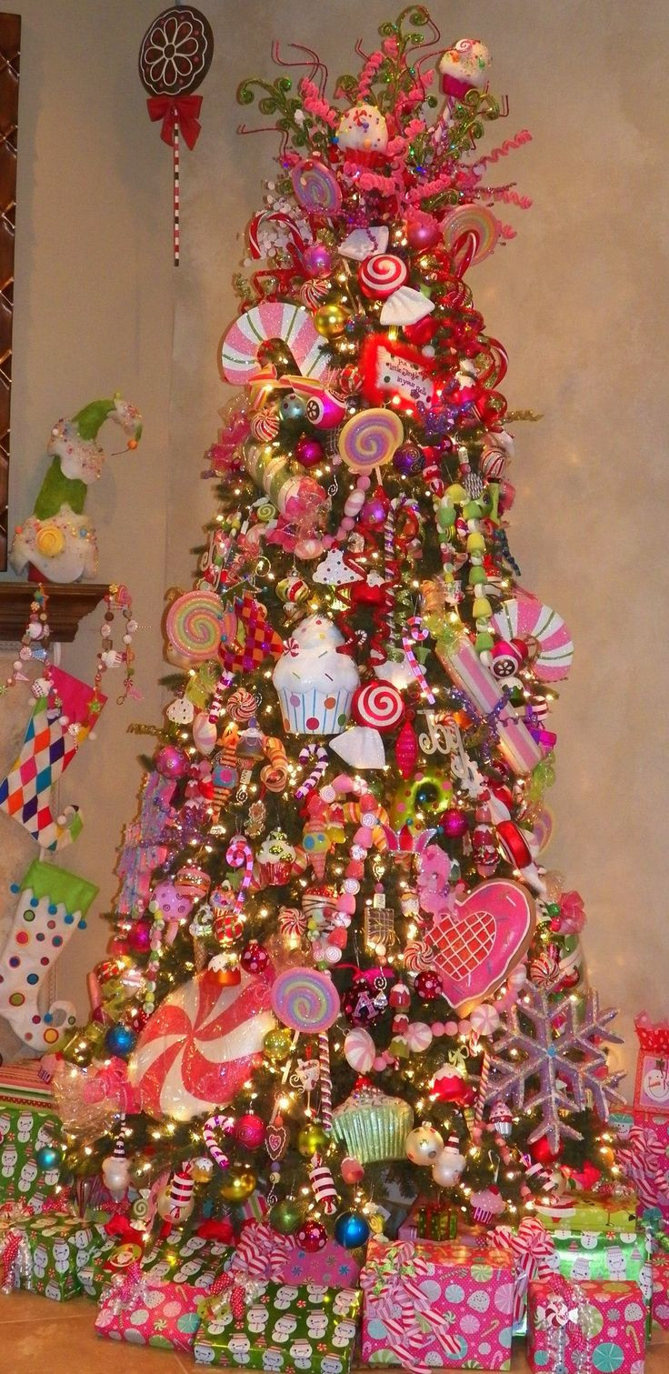 Candy Themed Christmas Tree  2365 best Christmas Trees images on Pinterest