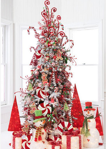 Candy Themed Christmas Tree  Christmas Decoration Candy cane theme Interior