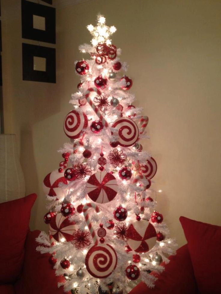 Candy Themed Christmas Tree  Candy cane theme Christmas Tree Christmas