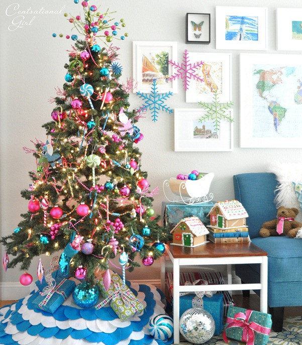 Candy Themed Christmas Tree  Candy Colored Christmas Tree