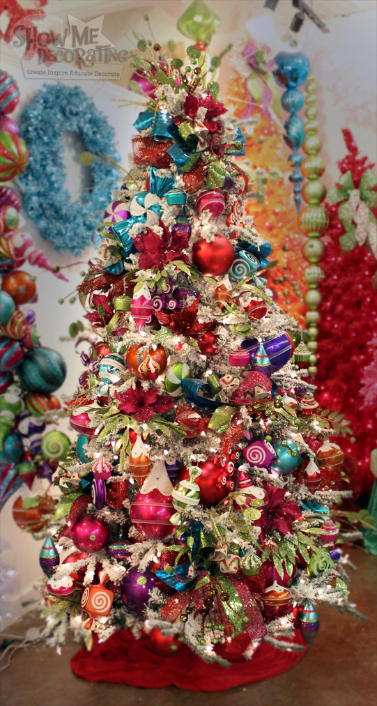 Candy Themed Christmas Tree  Show Me Decorating