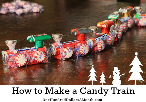 Candy To Make For Christmas  How To Make A Candy Train Easy Kids Christmas Crafts