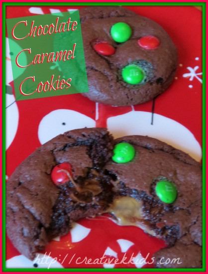 Caramel Christmas Cookies  Chocolate Caramel Christmas Cookies