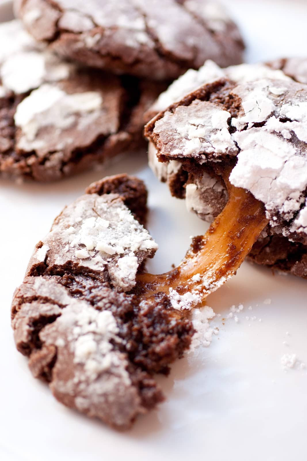 Caramel Christmas Cookies  Salted Caramel Stuffed Chocolate Crinkle Cookies Cooking