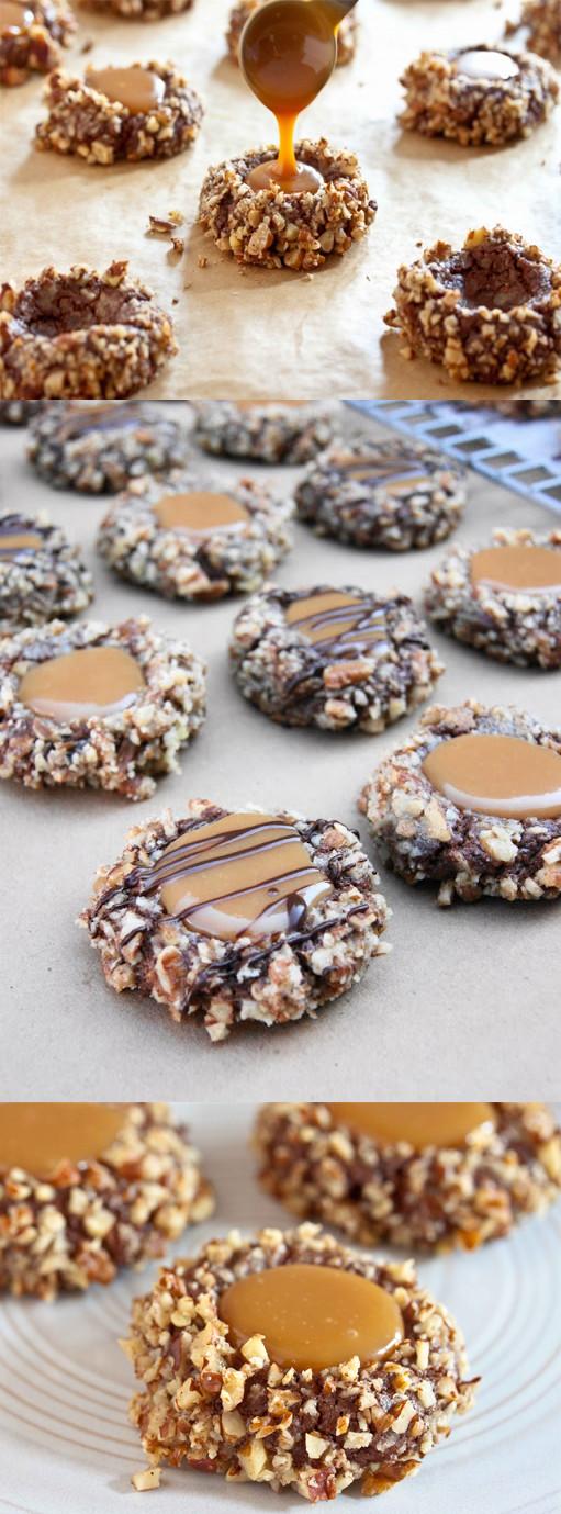 Caramel Christmas Cookies  cookie platter