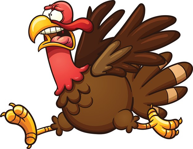 Cartoon Thanksgiving Turkey  Police Dispatch Police Dispatch