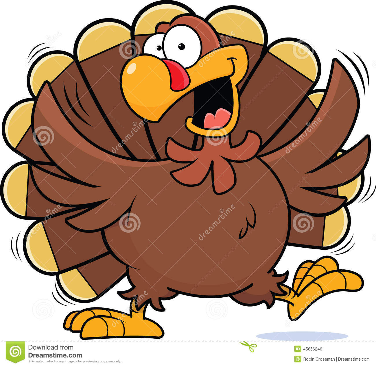 Cartoon Thanksgiving Turkey  Cartoon Happy Turkey stock vector Illustration of cartoon