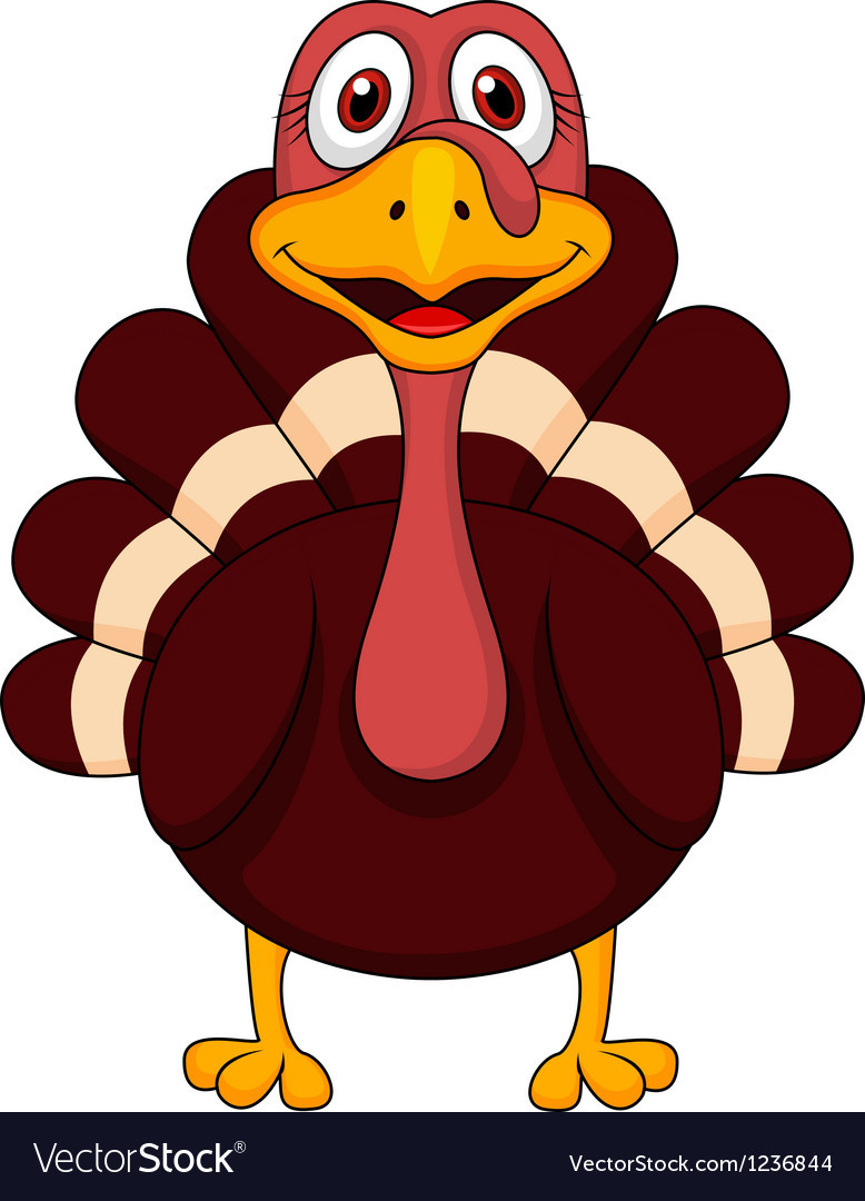 Cartoon Thanksgiving Turkey  Turkey cartoon Royalty Free Vector Image VectorStock