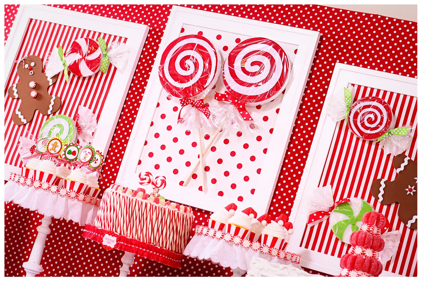 Catch The Candy Christmas  Amanda s Parties To Go Candy Christmas Dessert Table