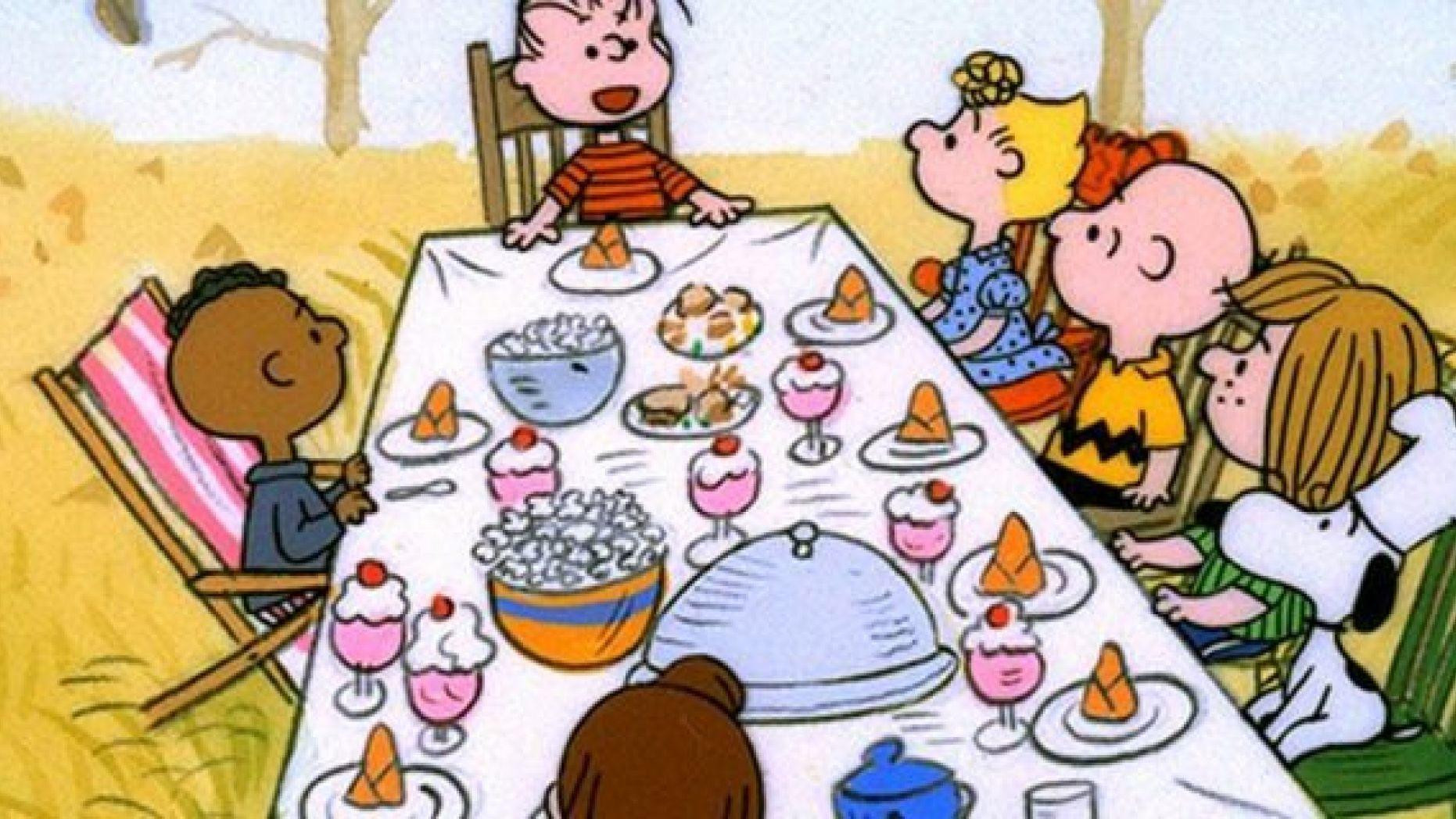 Charlie Brown Thanksgiving Dinner  Charlie Brown cartoon labelled racist over depiction of