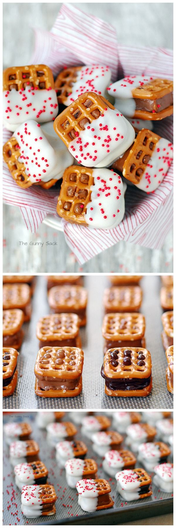 Cheap Christmas Cookies  Candy Bar Pretzel Bites are easy to make with mini candy