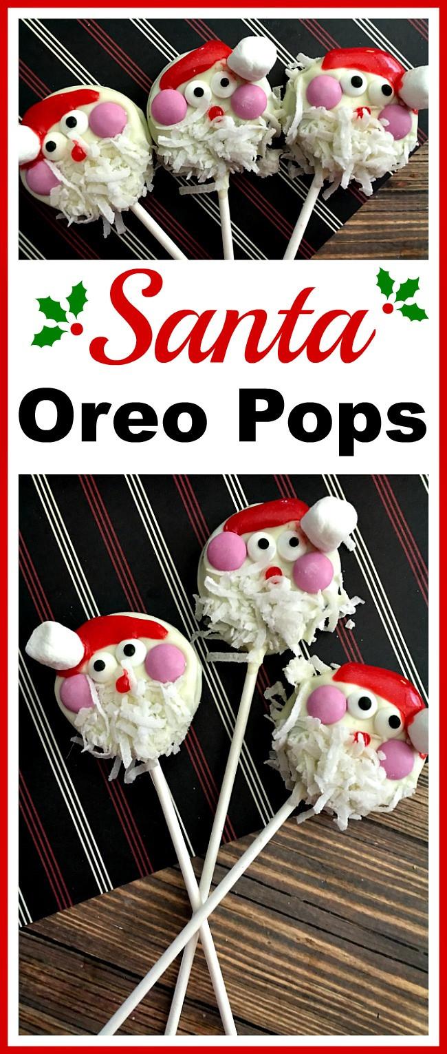 Cheap Christmas Desserts  Santa Oreo Pops An Easy Christmas Dessert Recipe