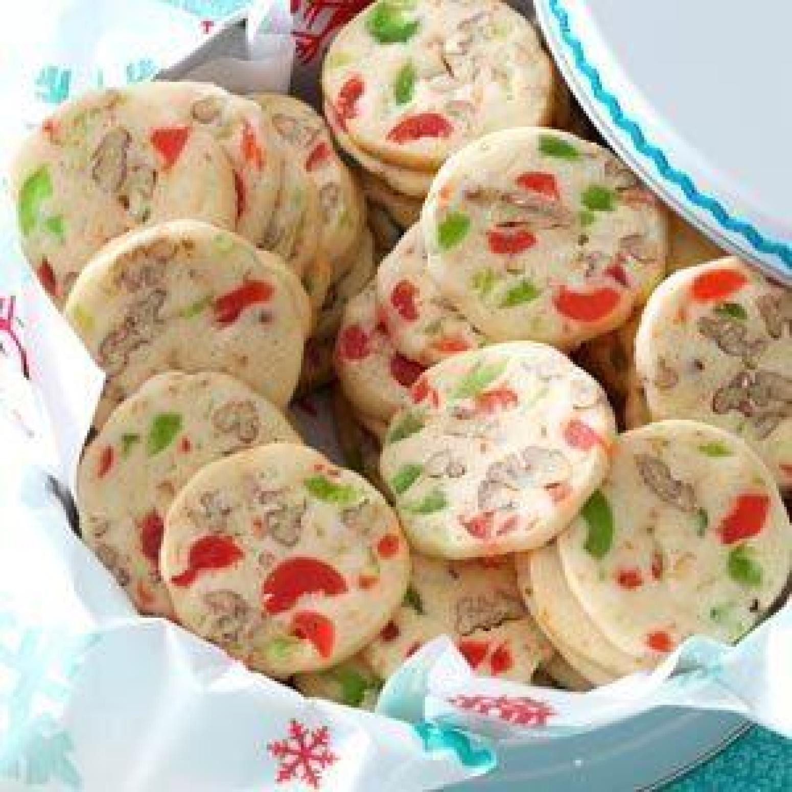 Cherry Christmas Cookies  Cherry Christmas Slices Recipe