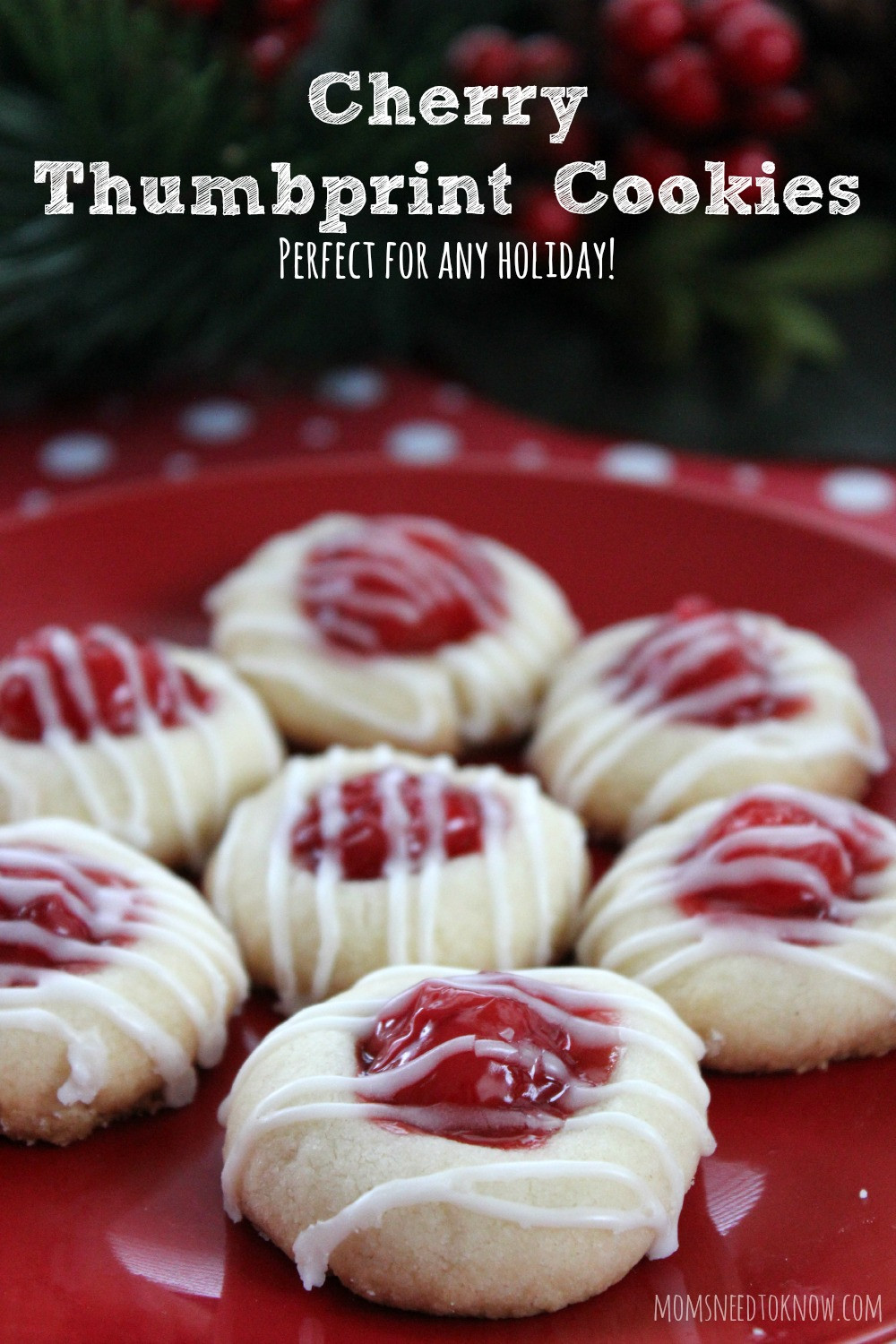 Cherry Christmas Cookies  Cherry Thumbprint Cookie Recipe