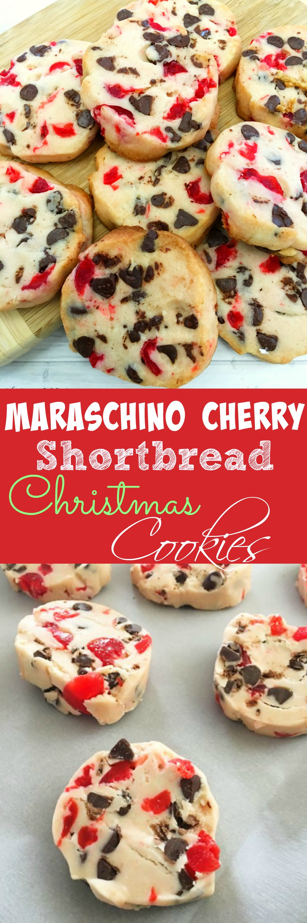 Cherry Christmas Cookies  Maraschino Cherry Shortbread Christmas Cookies