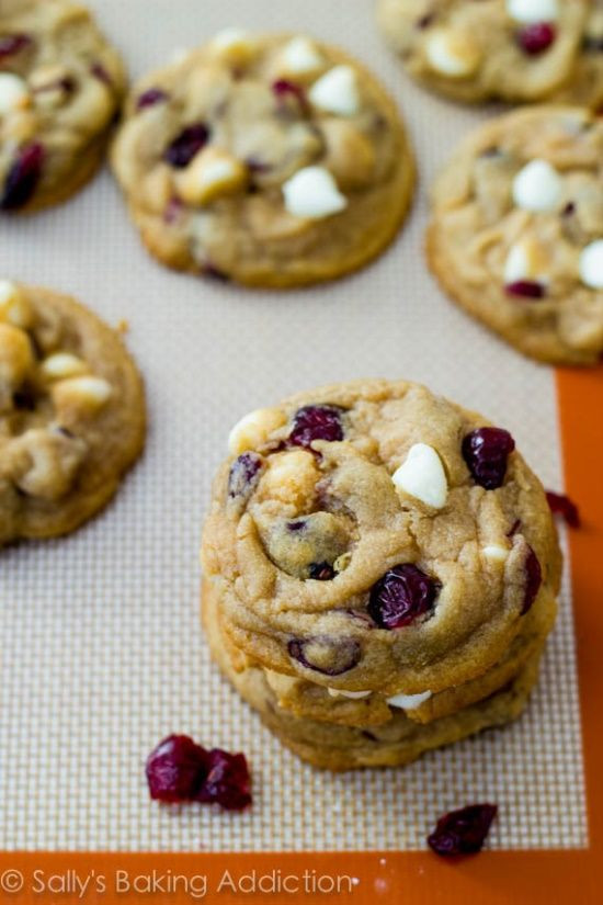 Chewy Christmas Cookies  Soft Baked White Chocolate Cranberry Cookies