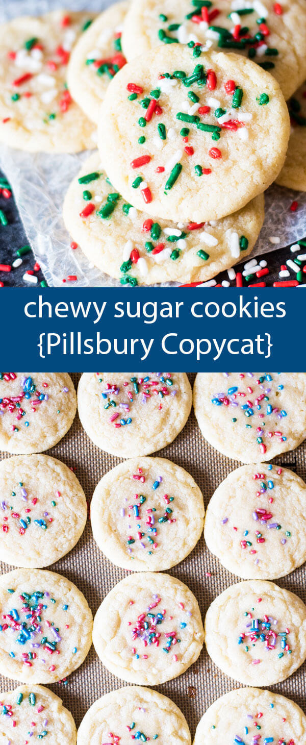 Chewy Christmas Cookies  Chewy Sugar Cookies Recipe Pillsbury Copycat Easy Sugar