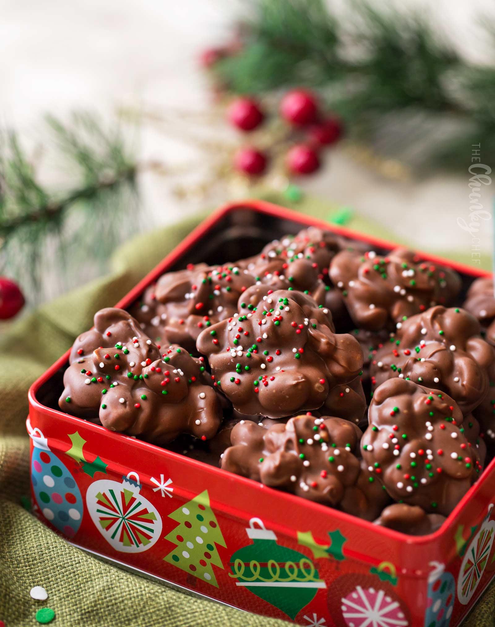Chocolate Christmas Candy  Easy Christmas Crockpot Candy The Chunky Chef