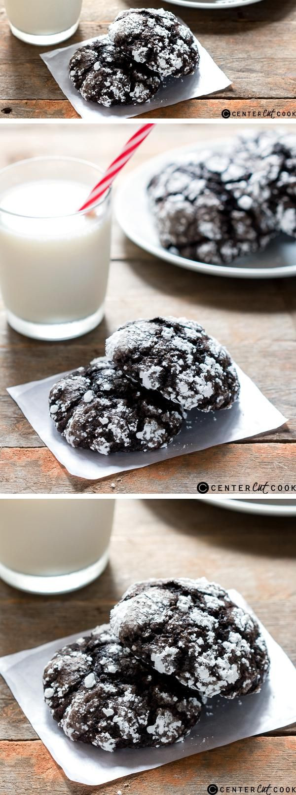 Chocolate Christmas Cookies With Powdered Sugar  25 best ideas about Chocolate crinkle cookies on