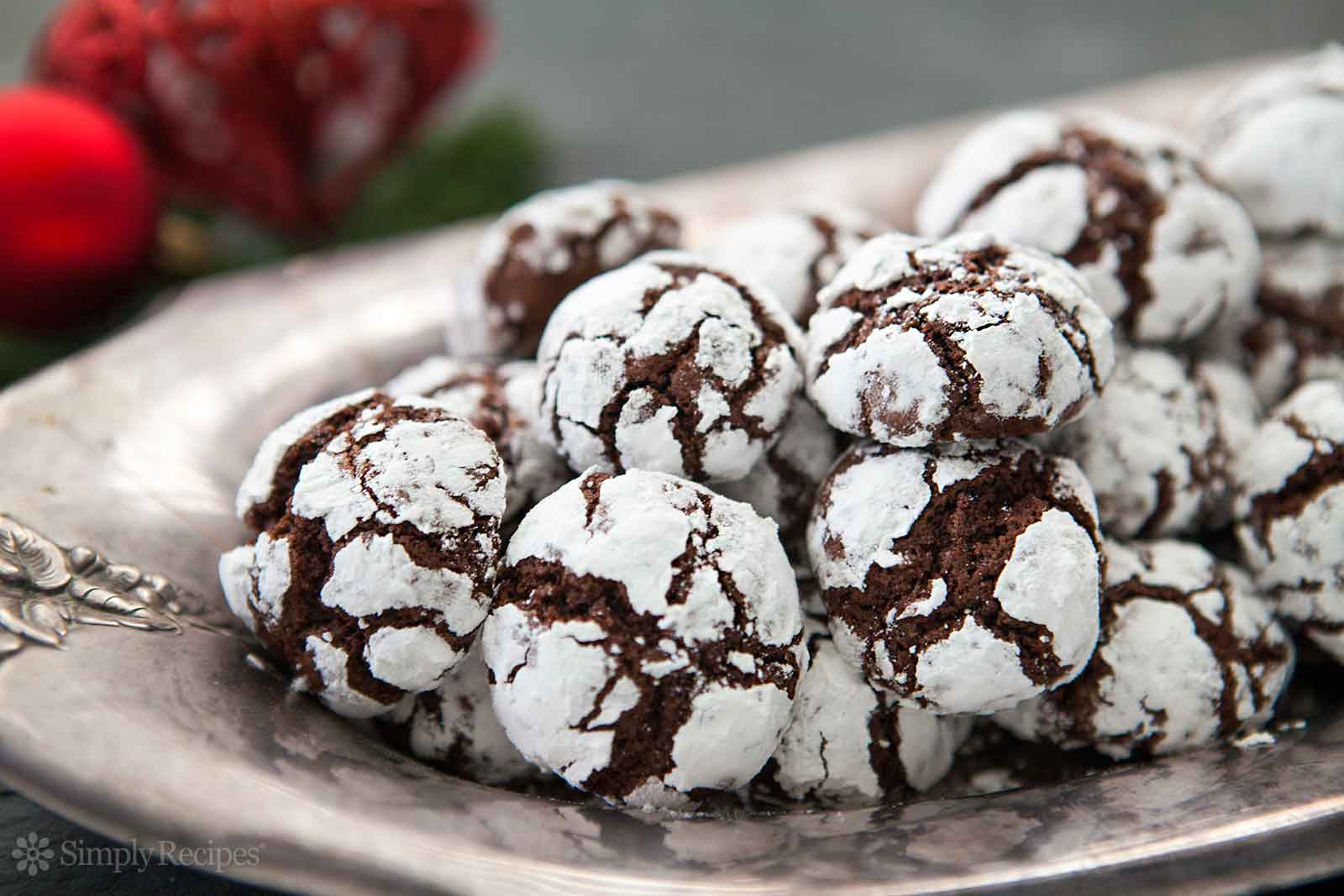 Chocolate Christmas Cookies With Powdered Sugar  Chocolate Crinkles Recipe