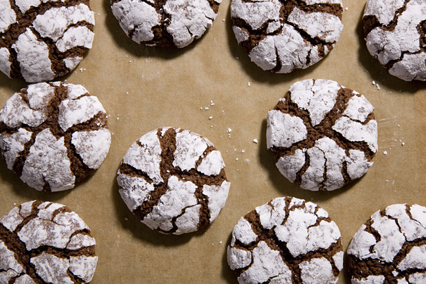 Chocolate Christmas Cookies With Powdered Sugar  Holiday Cookies Chocolate Crinkle Cookies CHOW
