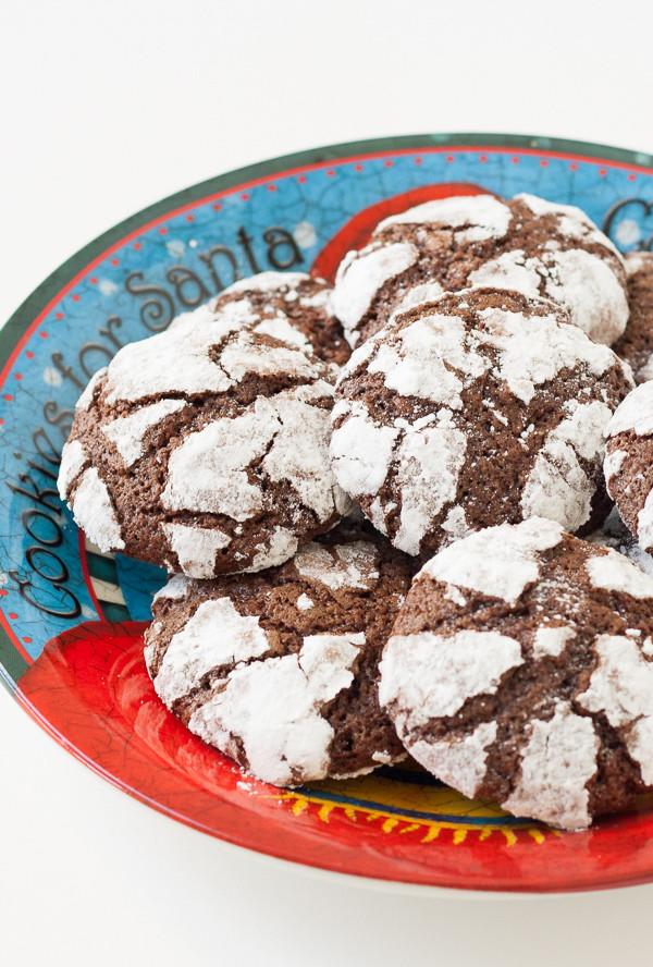 Chocolate Christmas Cookies With Powdered Sugar  Chocolate Crinkle Cookies Kristine s Kitchen