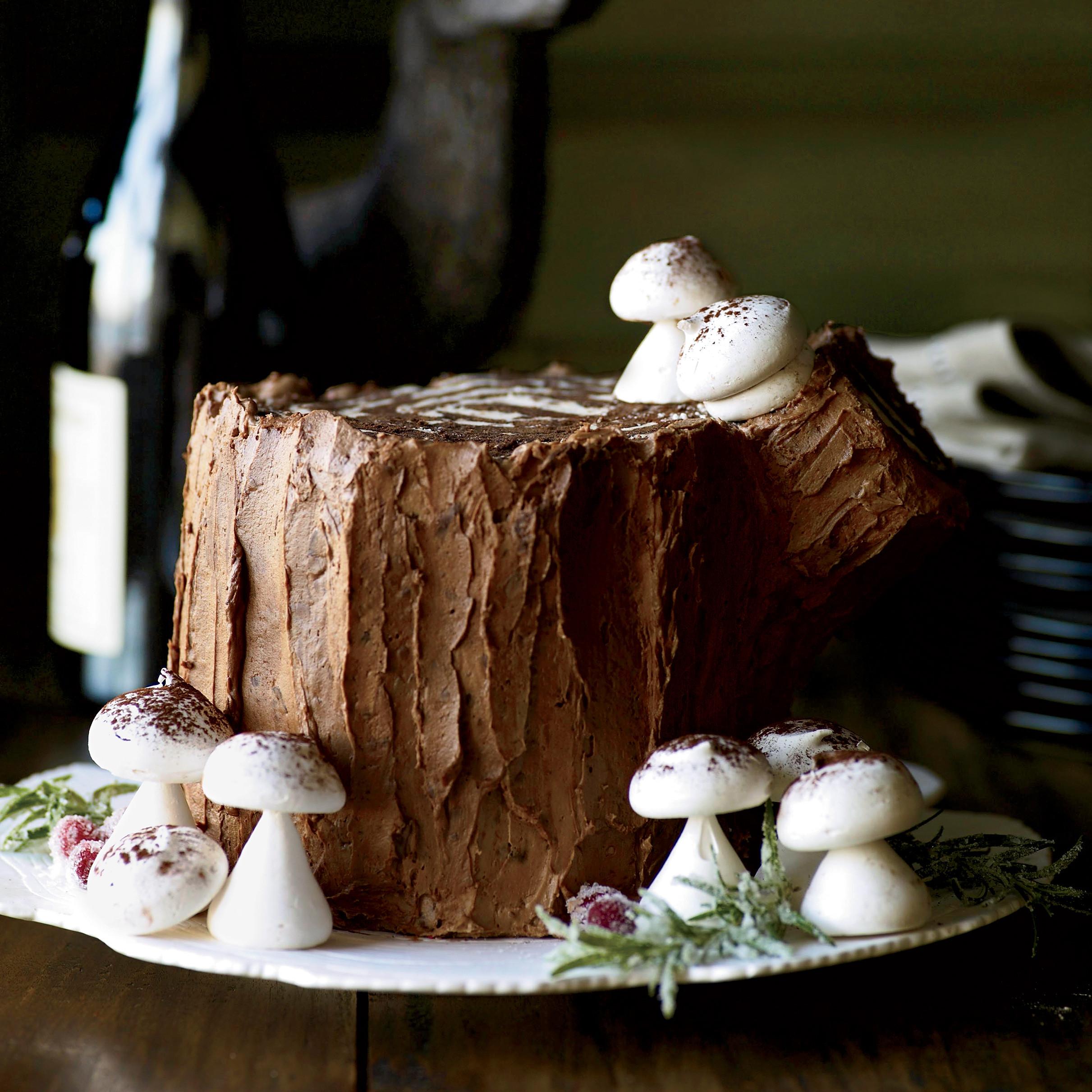 Chocolate Christmas Desserts  Chocolate Malt Stump de Noël Recipe Matt Lewis Renato