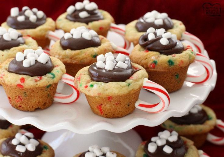 Chocolate Christmas Desserts  HOT CHOCOLATE COOKIE CUPS Butter with a Side of Bread