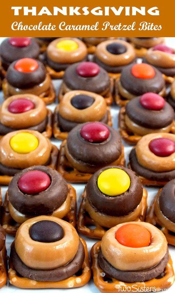 Chocolate Desserts For Thanksgiving  Thanksgiving Caramel Pretzel Bites