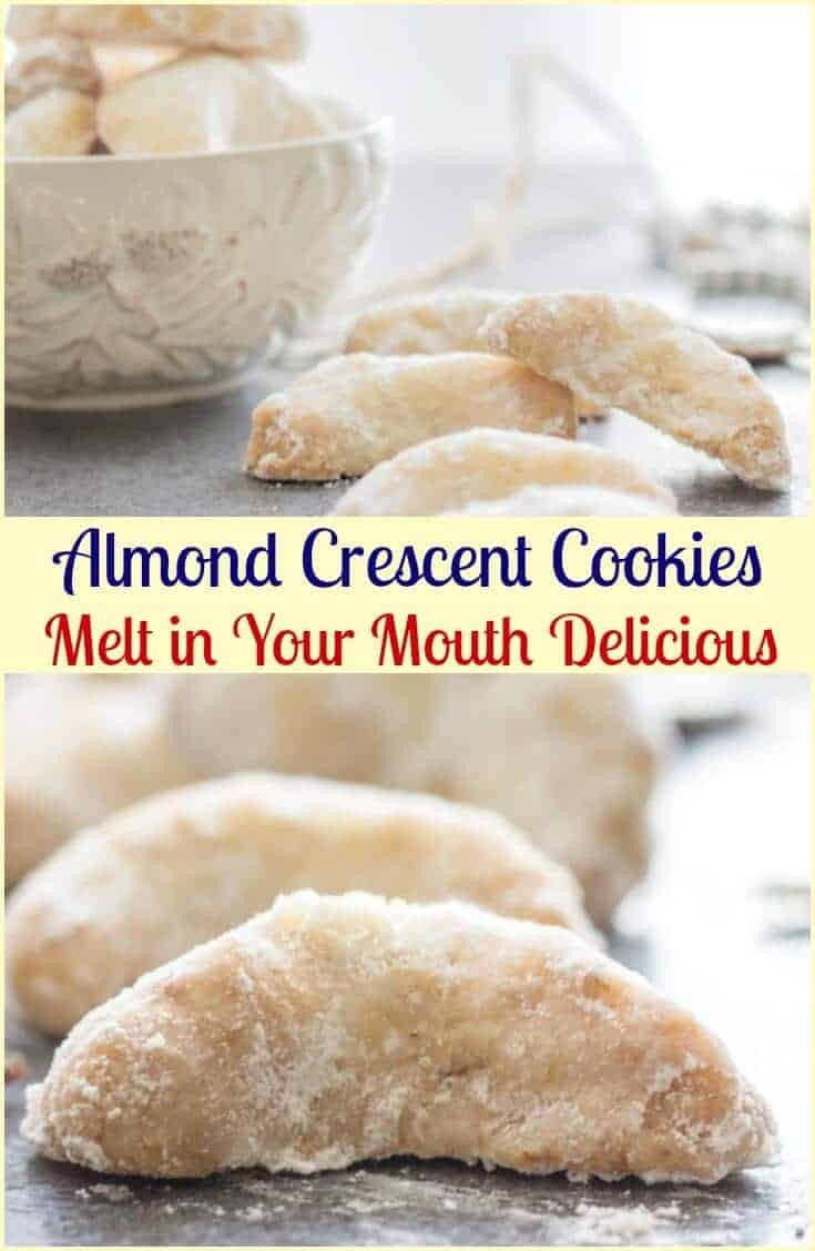 Christmas Almond Cookies  Almond Crescent Cookies An Italian in my Kitchen