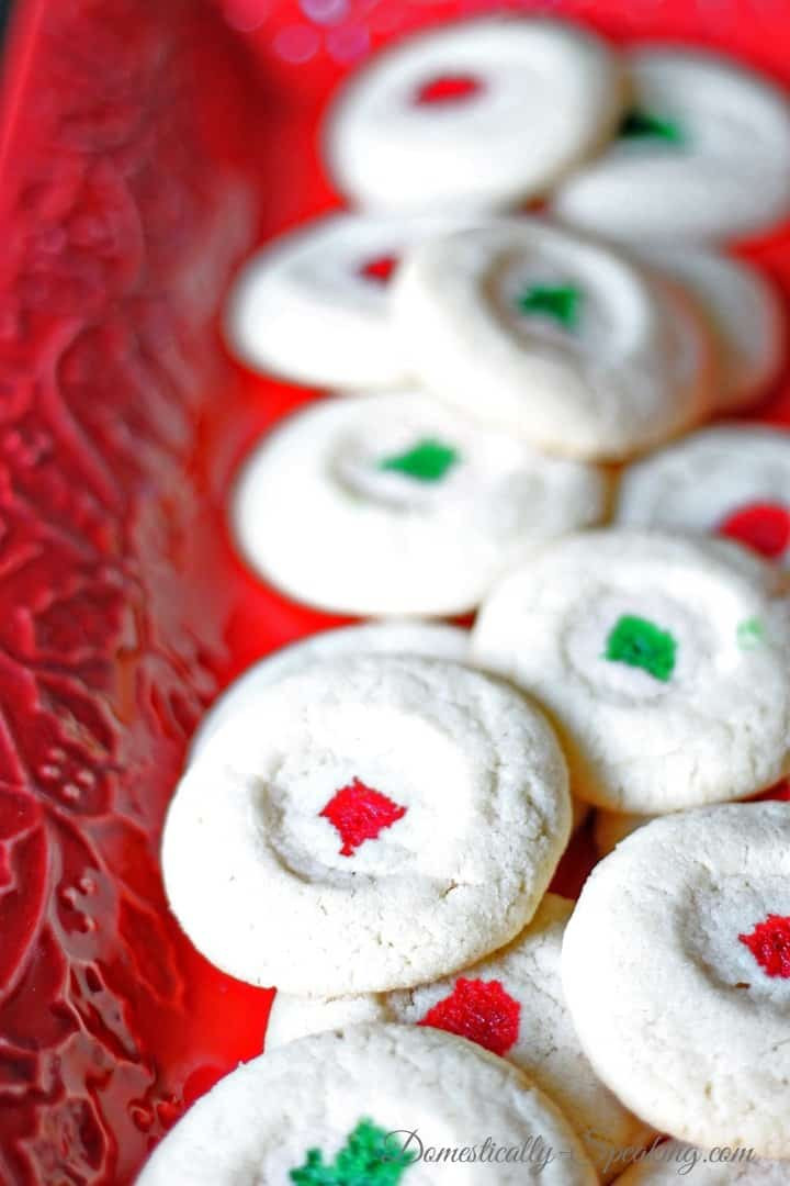 Christmas Almond Cookies  Christmas Almond Cookies Domestically Speaking