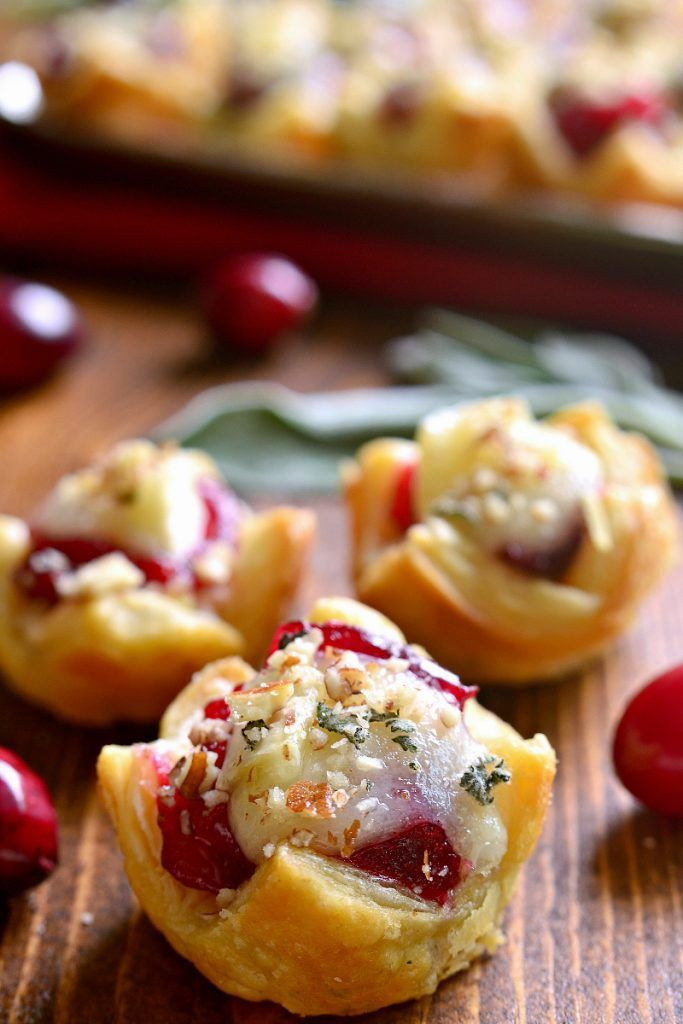 Christmas Appetizers 2019  Chicken Cranberry & Brie Tartlets