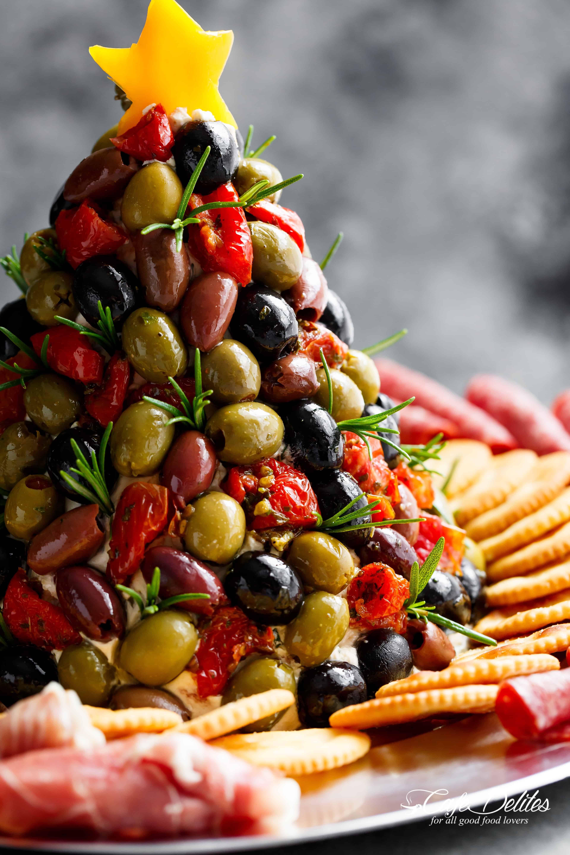 Christmas Appetizers 2019  Antipasto Cheese Ball Christmas Tree