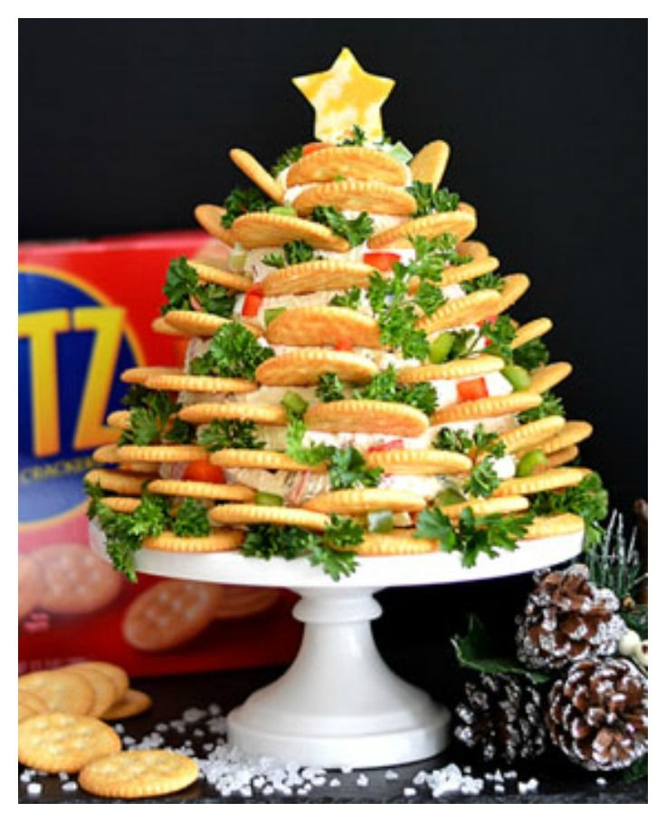 Christmas Appetizers 2019  Holiday RITZ Crackers Veggie Cream Cheese Appetizer Tree