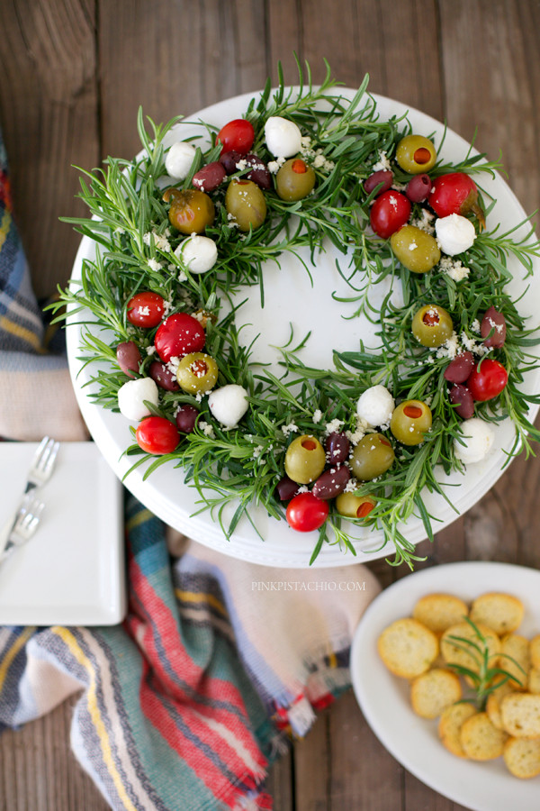 Christmas Appetizers 2019  Beautiful Edible Antipasto Holiday Wreath appetizer