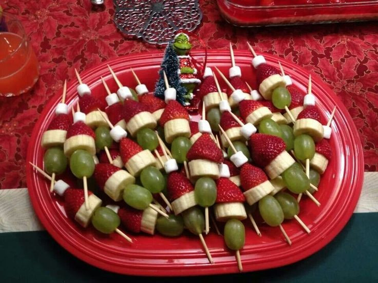 Christmas Appetizers On Pinterest  Grinch appetizer Easy fun Christmas