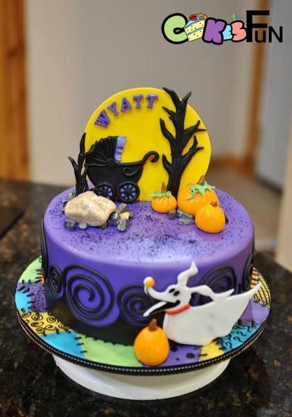 Christmas Baby Shower Cakes  Nightmare Before Christmas baby Shower Cake Cake