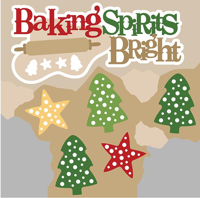 Christmas Baking Clipart  Baking Spirits Bright SVG christmas baking svg christmas