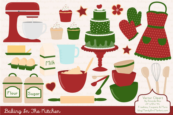 Christmas Baking Clipart  Christmas Baking Clipart & Vectors Illustrations on