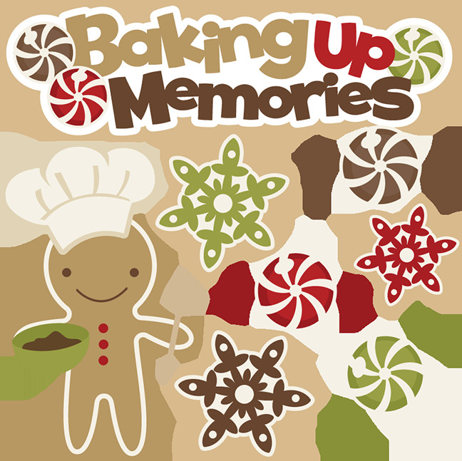 Christmas Baking Clipart  Baking Up Memories SVG cutting files free svg cuts