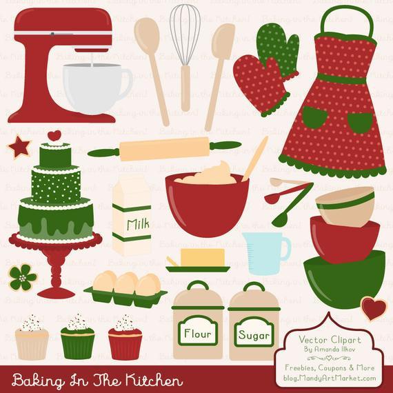 Christmas Baking Clipart  Items similar to Professional Christmas Baking Clipart