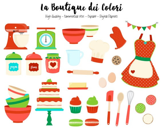 Christmas Baking Clipart  Christmas Baking Clipart Cute Graphics PNG Red and