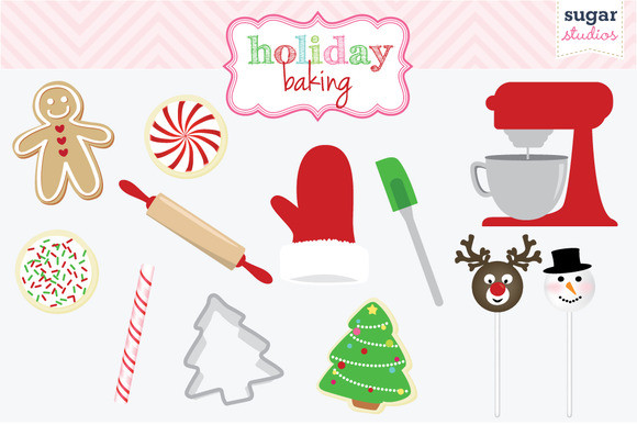Christmas Baking Clipart  Holiday Baking Digital Clipart Objects on Creative Market