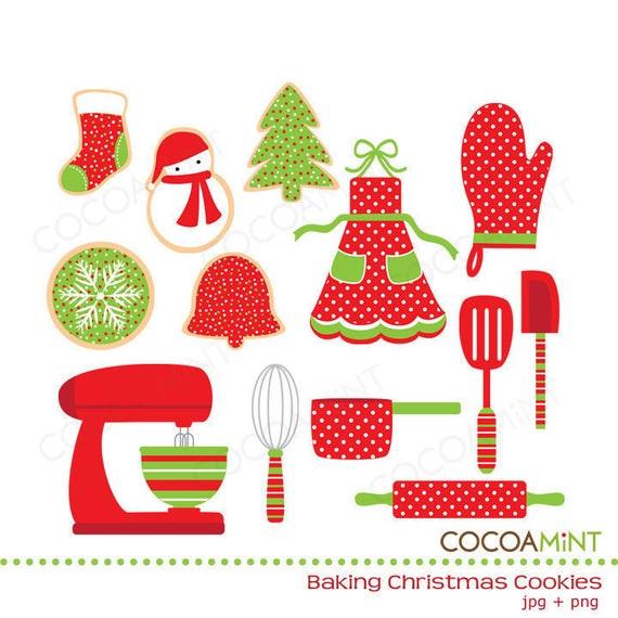 Christmas Baking Clipart  Baking Christmas Cookies Clip Art