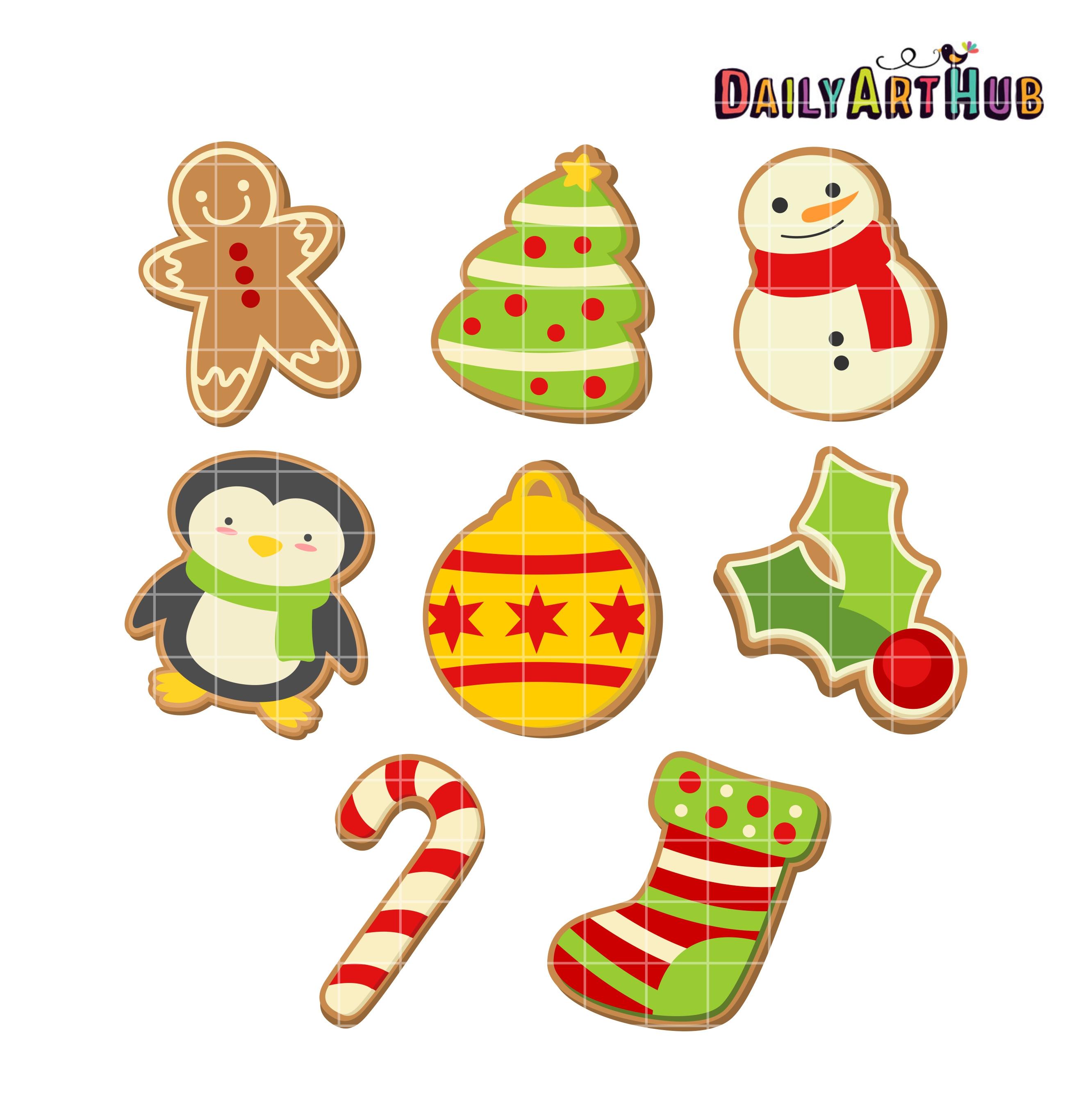 Christmas Baking Clipart  Christmas Cookies Clip Art Set – Daily Art Hub – Free Clip