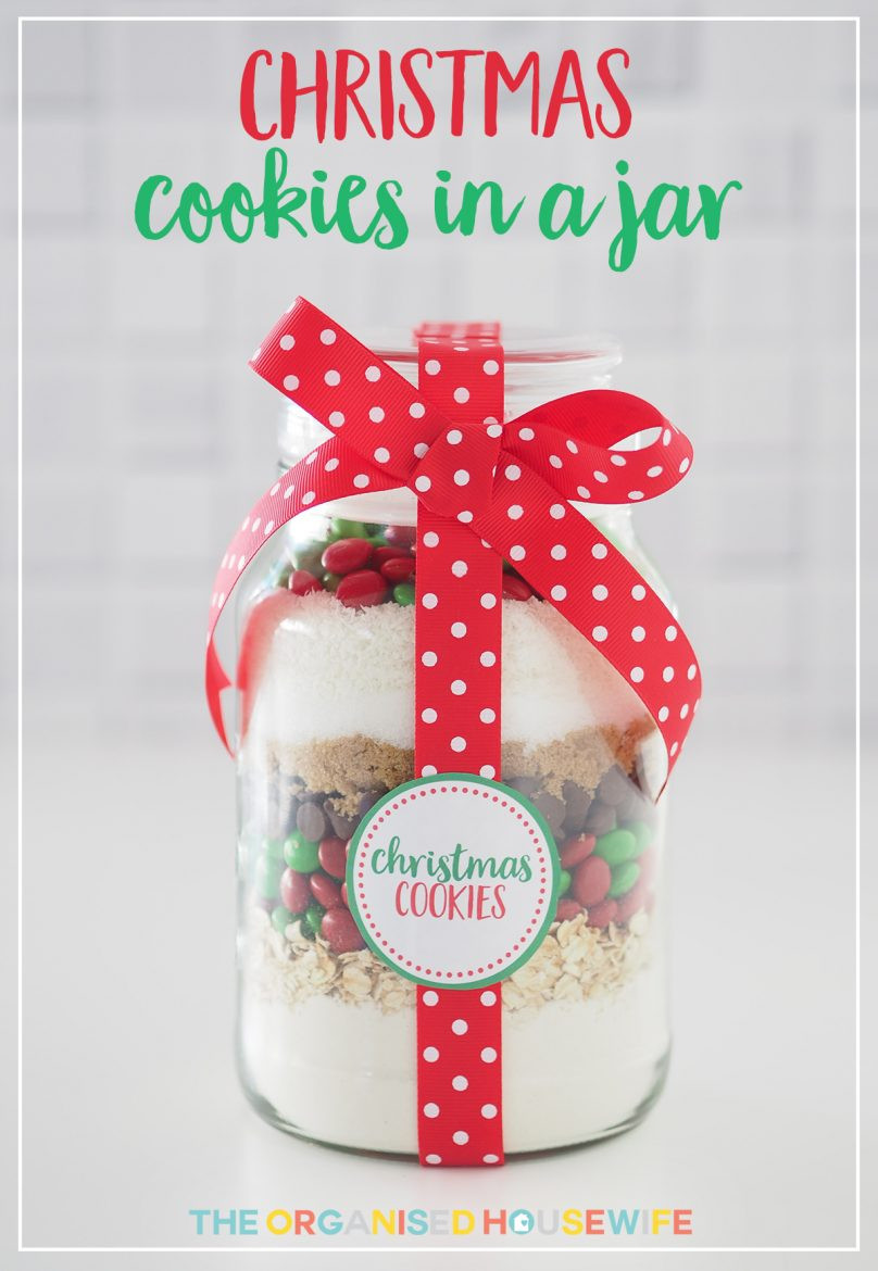 Christmas Baking Gifts  Gift Idea Christmas Cookie Mix in a Jar The Organised
