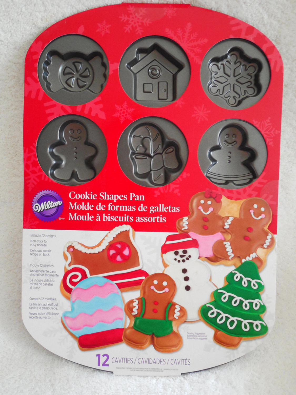 Christmas Baking Pans  Wilton Christmas Cookie Shapes Pan With 12 by
