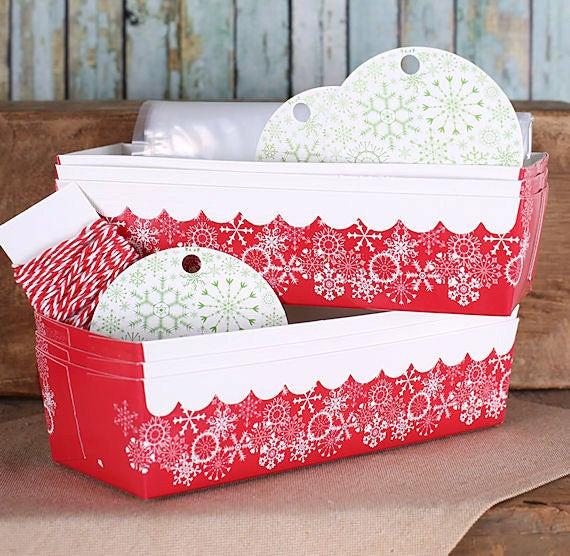 Christmas Baking Pans  Christmas Loaf Pan Kit with Snowflake Baking Pans Tags
