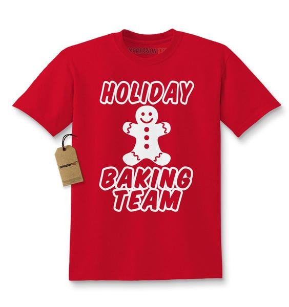 Christmas Baking Shirts  Holiday Baking Team Gingerbread Cookie Kids T shirt